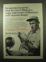 1966 Bache & Co. Brokers Ad - Major Underwriter