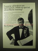1966 Bache & Co. Brokers Ad - Special Training