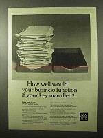 1966 New York Life Ad - If Your Key Man Died