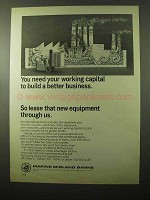1966 Marine Midland Banks Ad - Need Working Capital