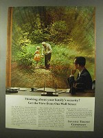 1966 Irving Trust Ad - Thinking About Family's Security