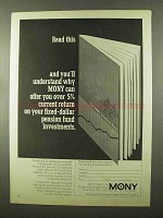 1966 MONY Mutual of New York Ad - Read This