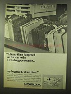 1966 Delta Airlines Ad - On The Way to Baggage Counter