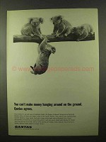 1966 Qantas Airline Ad, Can't Make Money Hanging Around