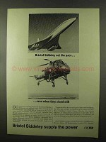 1966 Bristol Siddeley Engines Ad - Set The Pace