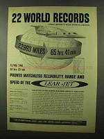 1966 Lear Jet Ad - 22 World Records