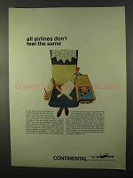 1966 Continental Airlines Ad - All Don't Feel The Same