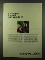 1966 Continental Airlines Ad - Have A Man Around a Jet