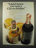 1966 Chivas Regal Scotch Ad - I Didn't Know You Were