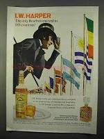 1966 I.W. Harper Bourbon Ad - Enjoyed in 110 Countries