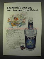 1966 Calvert Gin Ad - Best Used to Come From Britain