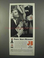 1966 J&B Scotch Ad - Pours More Pleasure