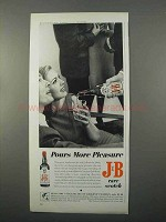 1966 J&B Scotch Ad - Pours