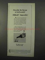 1966 J&B Scotch Ad - Describe the Flavor? Impossible!