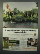 1966 Canadian Club Whisky Ad - Holland Canal-Vaulting