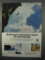 1966 Canadian Club Whisky Ad - Jumped Off Cliff