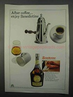1966 Benedictine Liqueur Ad - After Coffee Enjoy