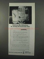 1966 Bacardi Rum Ad - Thank You Mrs. Richardson