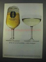 1966 Lowenbrau Beer Ad - Run Out Order Champagne