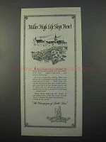 1966 Miller High Life Beer Ad - Slept Here