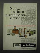 1966 Whirlpool Appliances Ad - Guarantee on Service