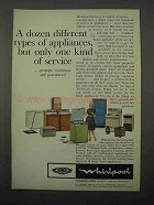 1966 Whirlpool Appliances Ad - Dozen Different Types