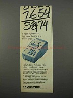 1966 Victor Tallymaster Adding Machine Ad - Figurework
