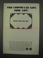 1966 National Safety Council Ad - Save Your Life
