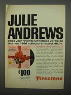 1966 Firestone Julie Andrews Chrismas Carols Album Ad