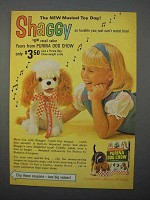 1966 Purina Dog Chow Ad - Shaggy Musical Toy Dog