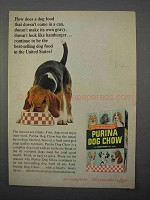 1966 Purina Dog Chow Ad - Doesn't Come in a Can