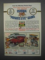 1966 Purina Dog Chow Ad - Private Eye Game