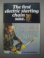 1966 McCulloch MAC 3-10E Chain Saw Ad - Electric