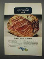1966 Saran Wrap Ad - Never Put Anything in Naked