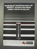 1966 Mallory Duracell Batteries Ad - Outlasts