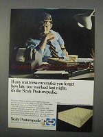 1966 Sealy Posturepedic Mattress Ad - Forget How Late