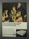 1966 Sealy Posturepedic Mattress Ad - How Late
