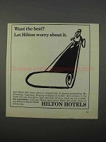 1966 Hilton Hotels Ad - Want the Best?