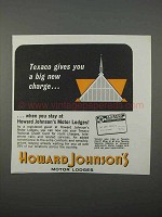 1966 Howard Johnson Motor Lodges Ad - Texaco Charge