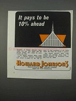 1966 Howard Johnson Motor Lodges Ad - It Pays Be Ahead