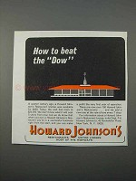 1966 Howard Johnson's Motor Lodges Ad - Beat the Dow
