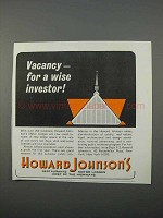 1966 Howard Johnson's Motor Lodges Ad - Wise Investor