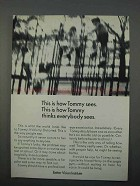 1966 Better Vision Institute Ad - How Tommy Sees
