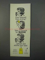 1966 Murine Eye Drops Ad - Eyes Fatigued from Driving?