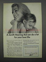 1966 Zenith Hearing  Aid Ad - A Lot for Your Love Life