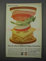 1966 Skippy Peanut Butter Ad - 31 Different Sandwiches