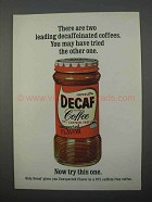 1966 Nestle's Decaf Instant Coffee Ad - Two Leading