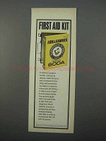 1966 Arm & Hammer Baking Soda Ad - First Aid Kit