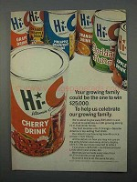 1966 Hi-C Drink Ad - Your Growing Family Could Win