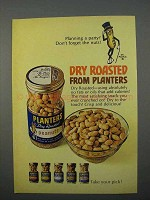 1966 Planters Dry Roasted Peanuts Ad - Planning Party?